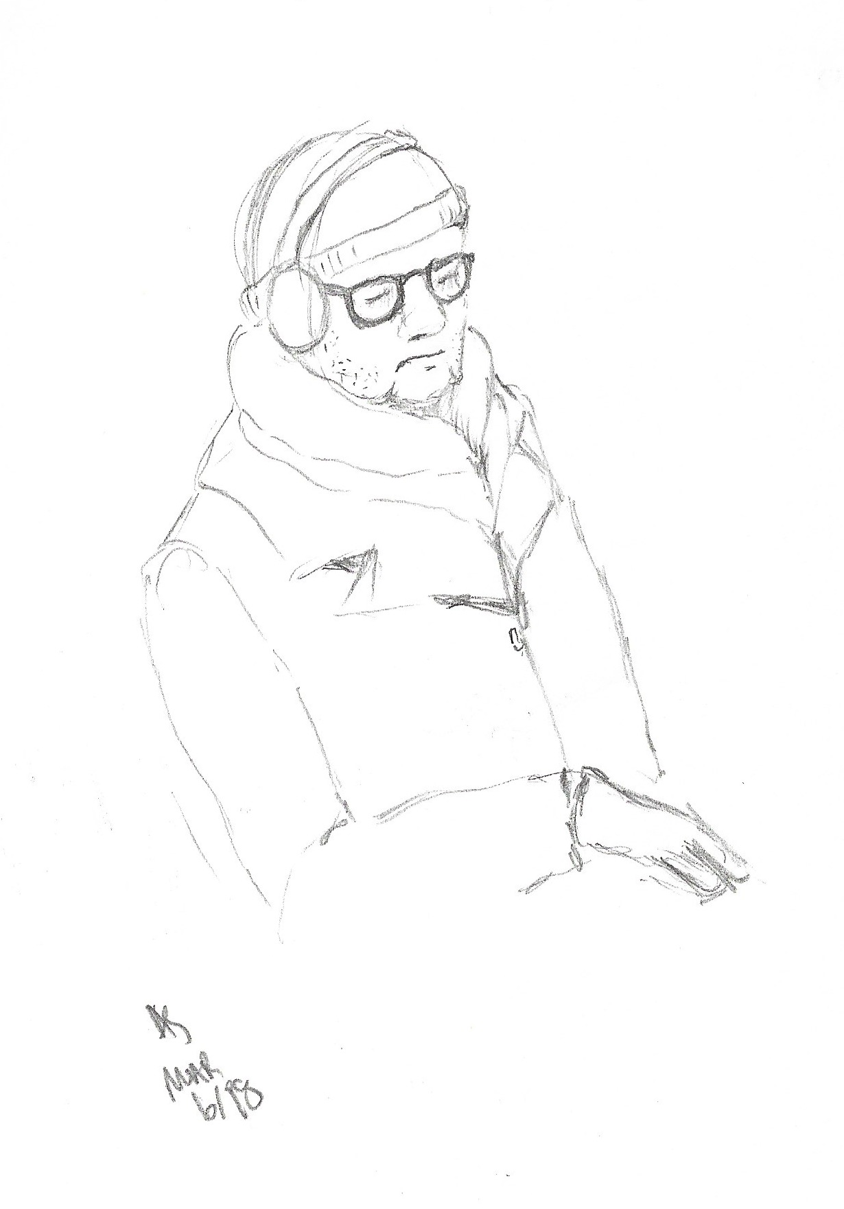 TTC Drawings – Hipster – Pencil